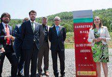 Pastor asiste a la puesta en servicio del túnel del Bordar, en Lleida