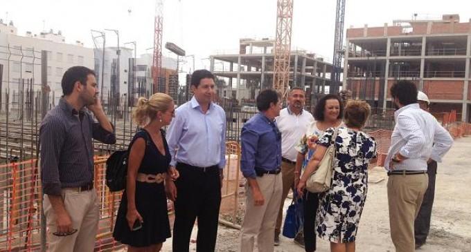 Buena marcha de las obras de reconstrucción de edificios en Lorca