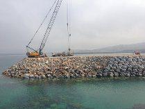 OHL inicia la construcción del segundo espigón en el puerto exterior de Punta Langosteira