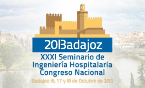 Badajoz será sede del XXXI Seminario Nacional de Ingeniería Hospitalaria