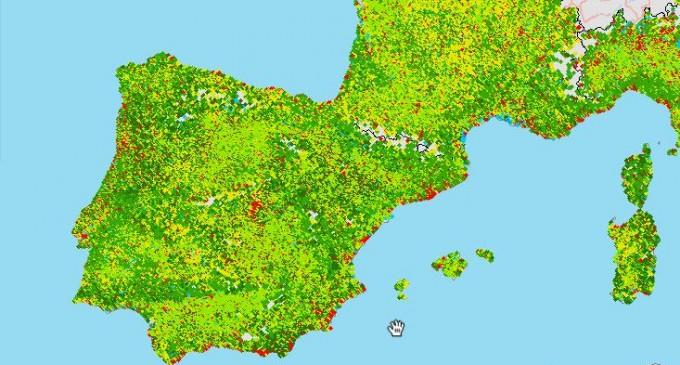 Edificios, carreteras y otras áreas artificiales cubren el 4% de España