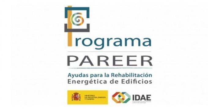 Programa PAREER, Ayudas para la Rehabilitación Energética de Edificios existentes del sector Residencial (uso vivienda y hotelero)