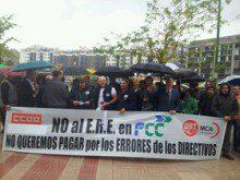 Los trabajadores de FCC mantienen su movilización contra el ERE en sus Servicios Industriales y Energéticos (SIE)