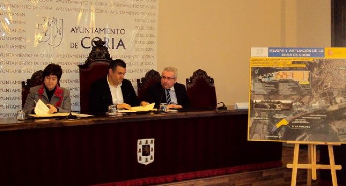 Inversión de 8,4 millones para la ampliación de la EDAR de Coria (Cáceres)