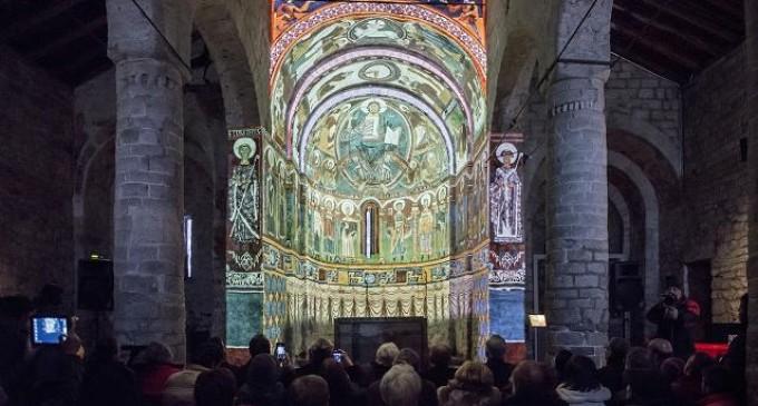 Se presentan los trabajos de restauración y musealización del ábside de la iglesia de San Clemente de Taüll