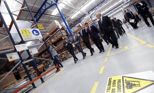 Inauguración del nuevo centro logístico de ThyssenKrupp en Móstoles