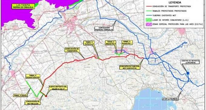 Licitación por 7,5 millones de las obras de mejora del abastecimiento a Beniel (Murcia) y Orihuela (Alicante)