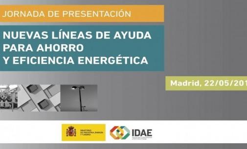 """Jornada gratuita online del IDAE: """"Líneas de ayuda para ahorro y eficiencia energética"""""""
