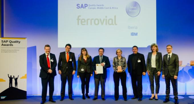 Ferrovial galardonada en los premios SAP Quality Awards EMEA