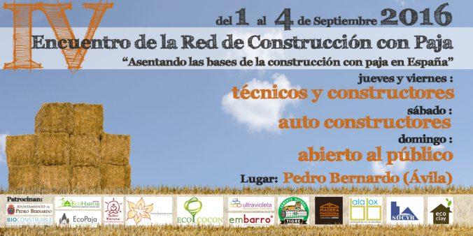 4º Encuentro de la Red de Construcción con Paja 2016