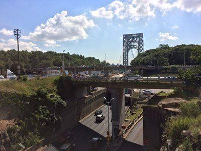 Imagen: OHL. Vistas de las obras del puente George Washington, desde el lado de Nueva Jersey.