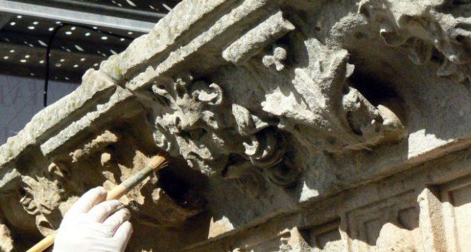 En diciembre finalizará la restauración de la Fachada de la Universidad de Salamanca