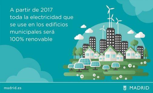 El Ayuntamiento de Madrid apuesta por la energía renovable