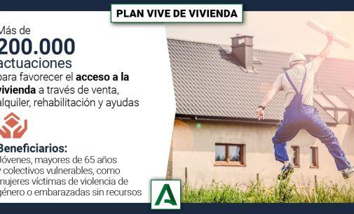 Plan Vive en Andalucía de vivienda y rehabilitación urbana 2020-2030
