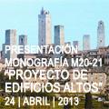 Presentación de la Monografía Proyecto de Edificios Altos