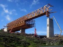 Se inicia la ejecución del tablero del viaducto de mayor luz del mundo