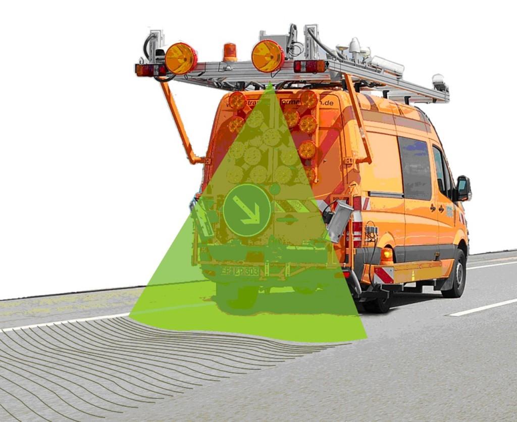 Un escáner comprueba el estado de las carreteras